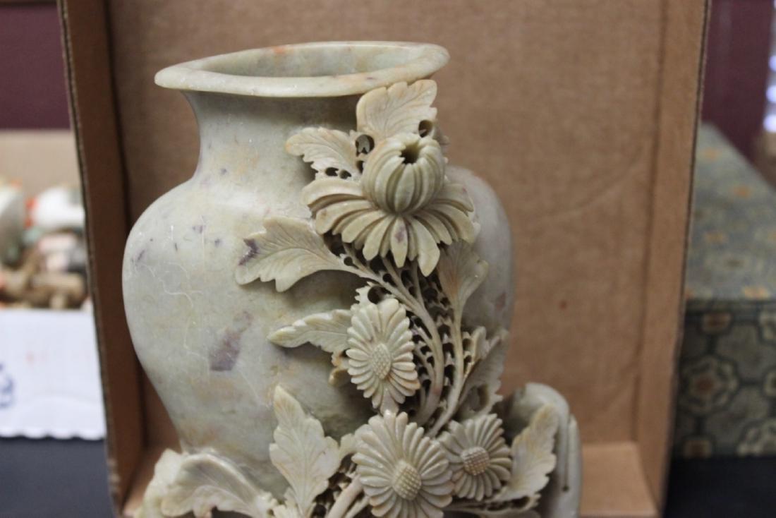 A Vintage/Antique Chinese Soap Stone Vase - 2