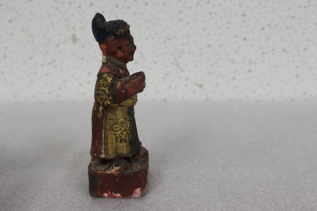 A Chinese Wooden Figurine - 2