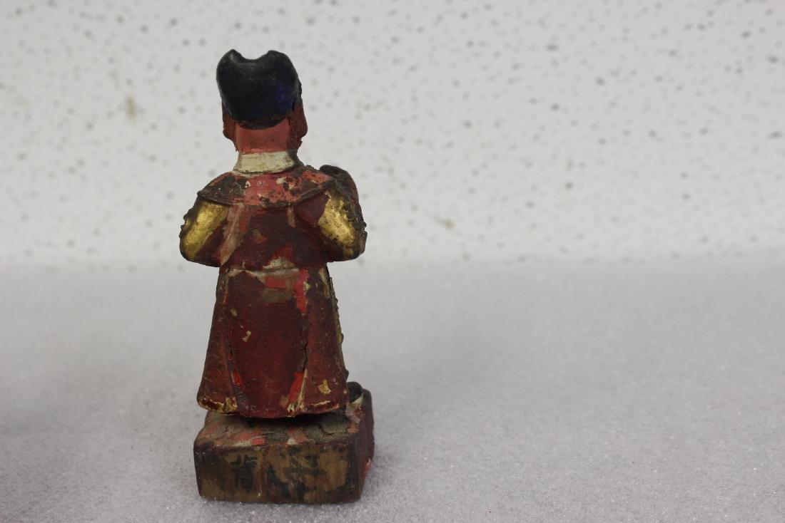 A Chinese Wooden Figurine - 3
