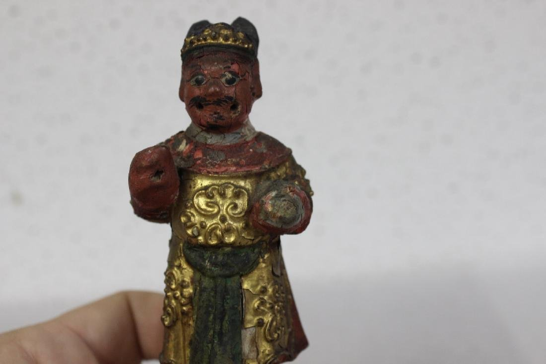A Chinese Wooden Figurine - 5