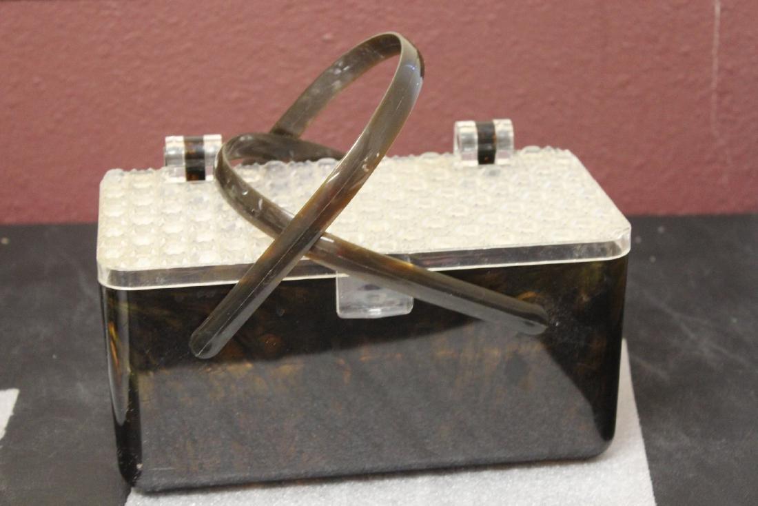 A Lucite Basket