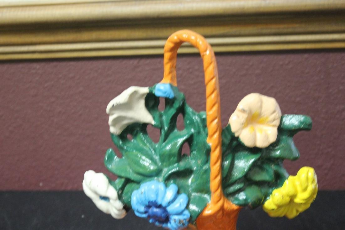 A Cast Iron Floral Basket - 2