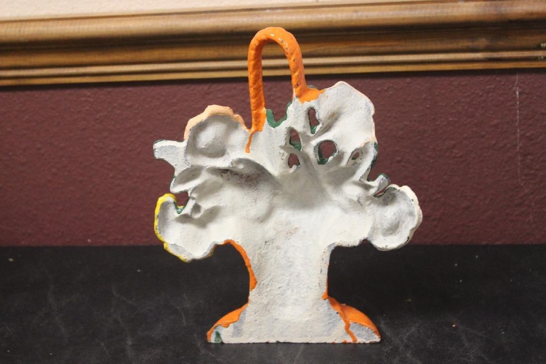 A Cast Iron Floral Basket - 5