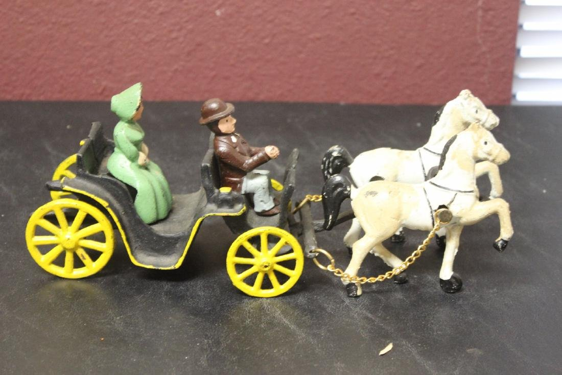A Vintage Carriage with Horses