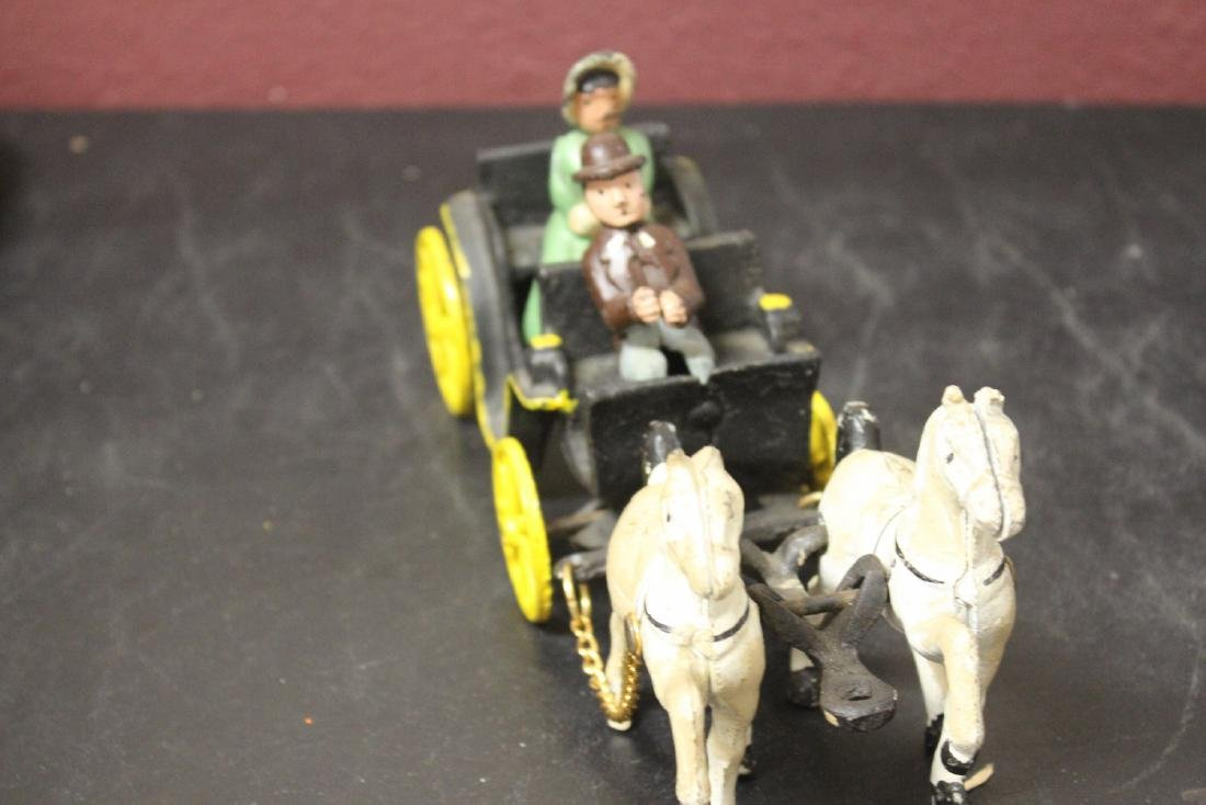 A Vintage Carriage with Horses - 2