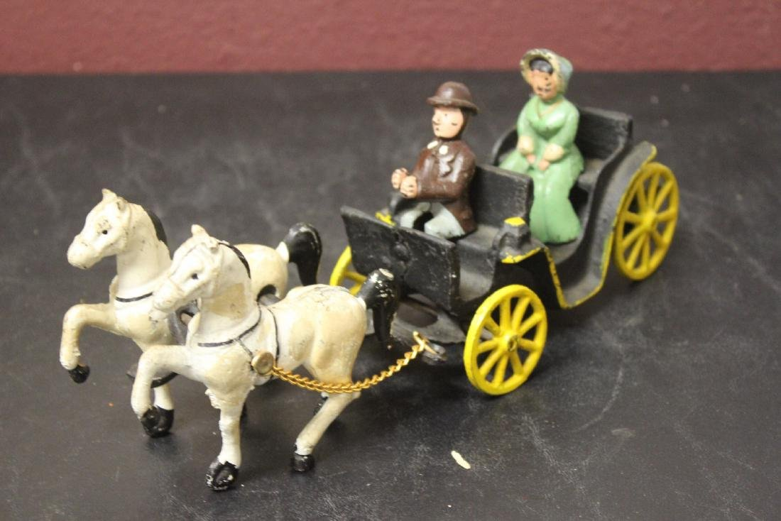 A Vintage Carriage with Horses - 3