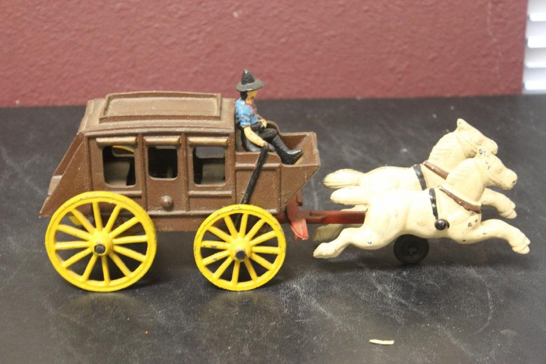 A Vintage Wild West Cowboy/Carriage With Horses