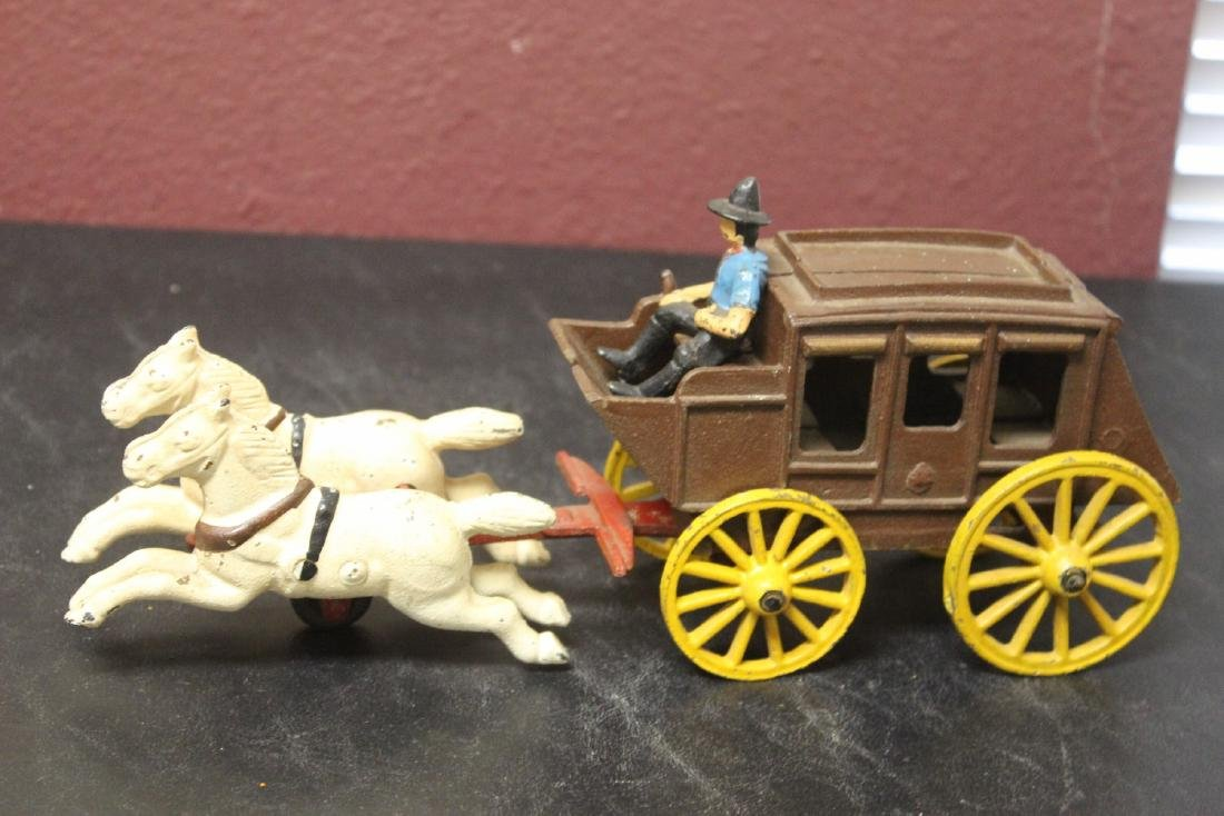 A Vintage Wild West Cowboy/Carriage With Horses - 3