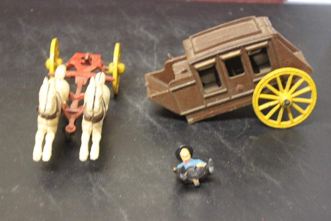 A Vintage Wild West Cowboy/Carriage With Horses - 4