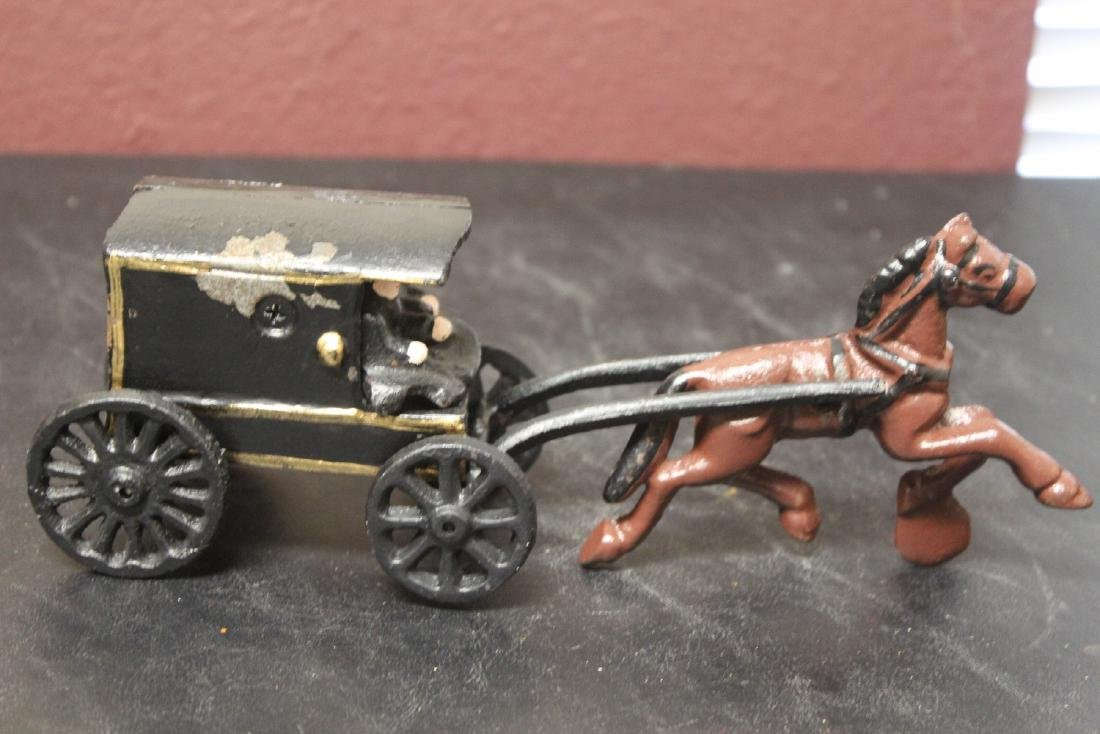 An Amish Carriage with Horse - 2