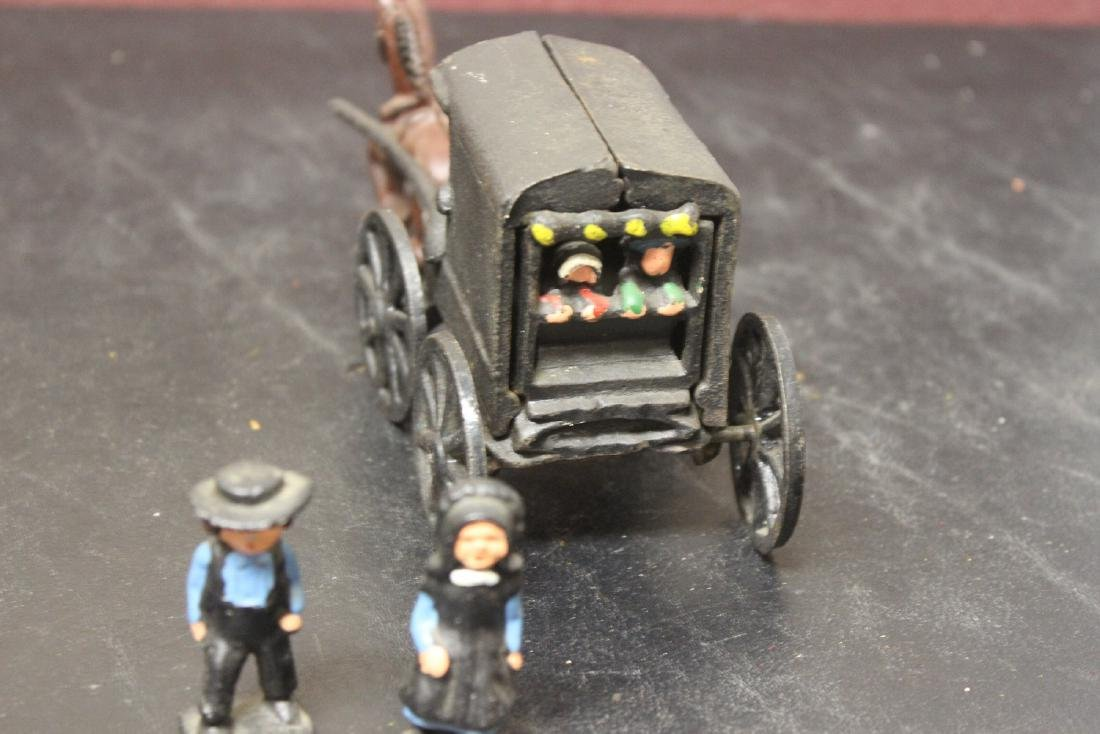 An Amish Carriage with Horse and Bystanders - 3