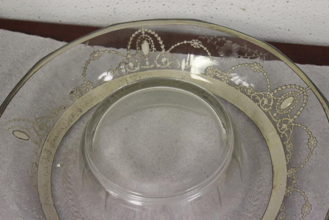 Sterling Silver Overlay Bowl?