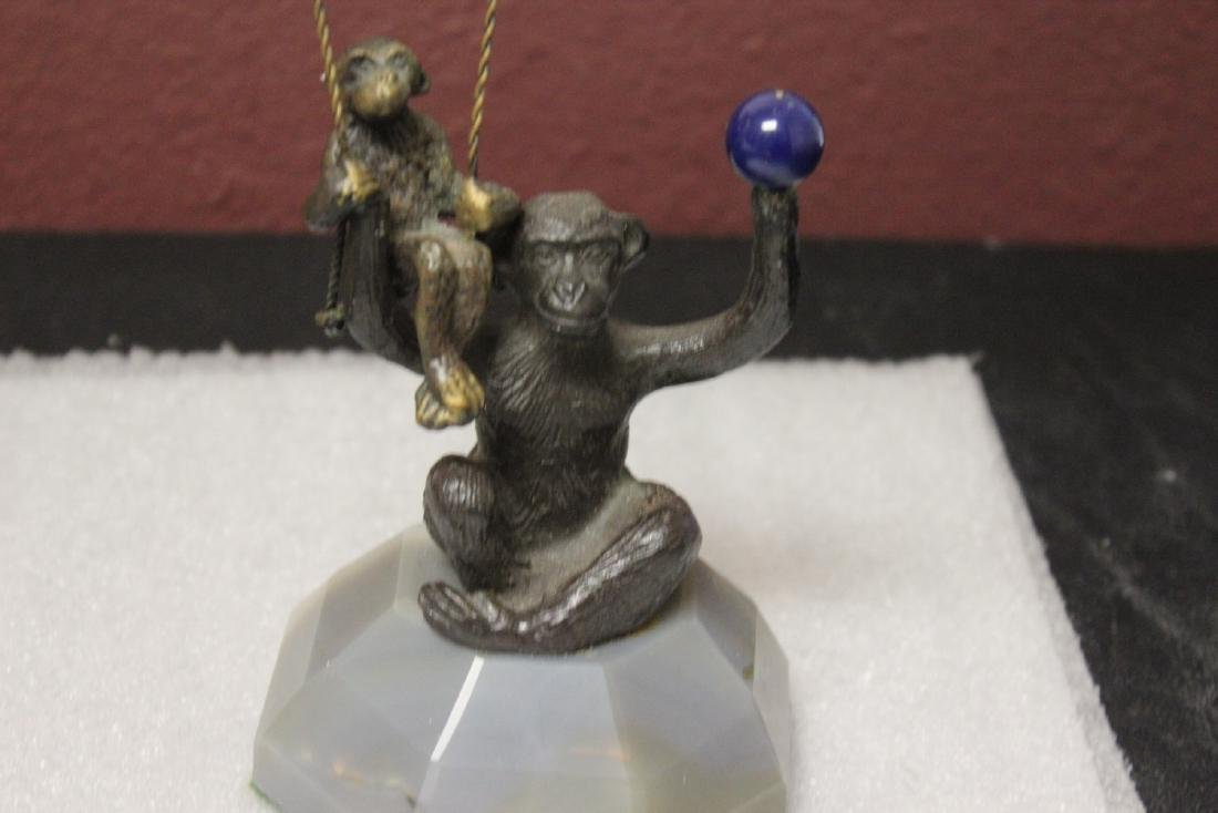 A Bronze Monkey with 3 Balloons - 2
