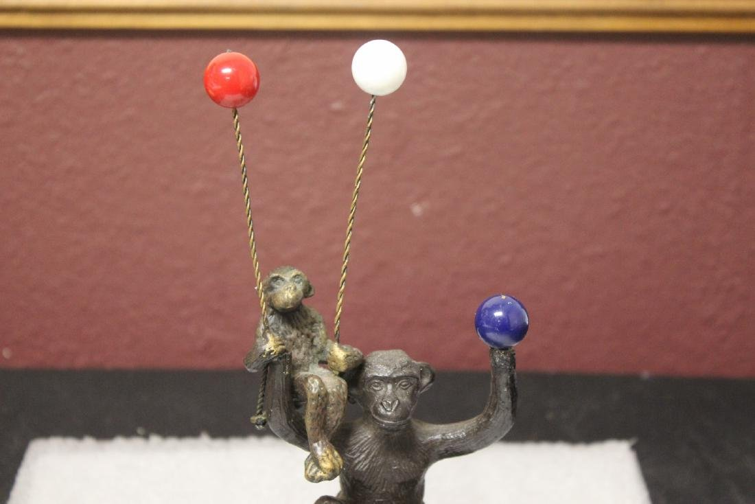 A Bronze Monkey with 3 Balloons - 3