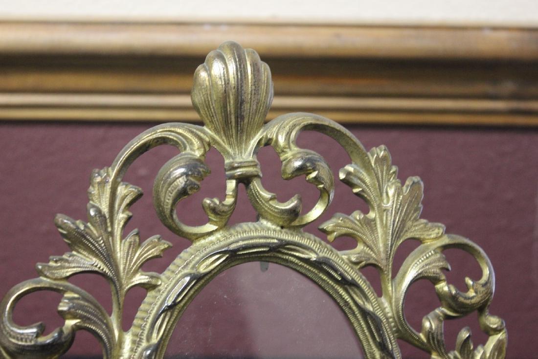 A Cast Iron Gold Frame - 2