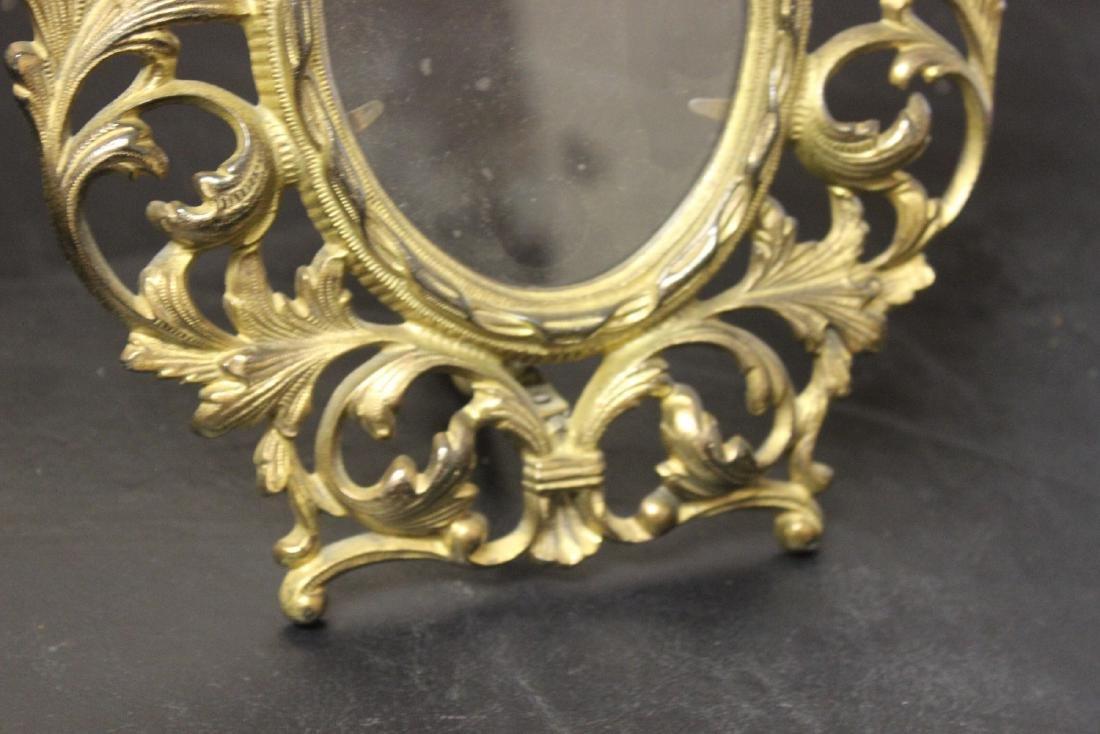 A Cast Iron Gold Frame - 3