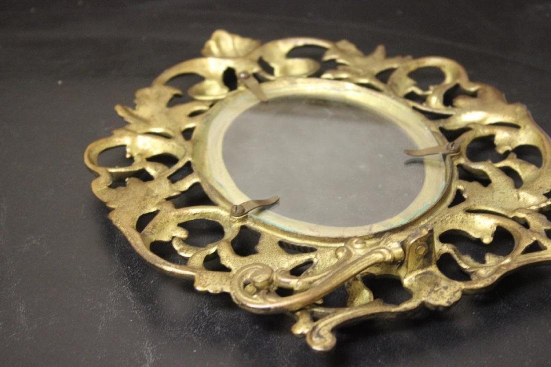 A Cast Iron Gold Frame - 5