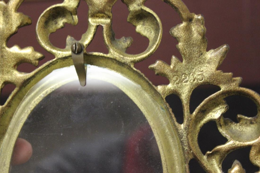 A Cast Iron Gold Frame - 6
