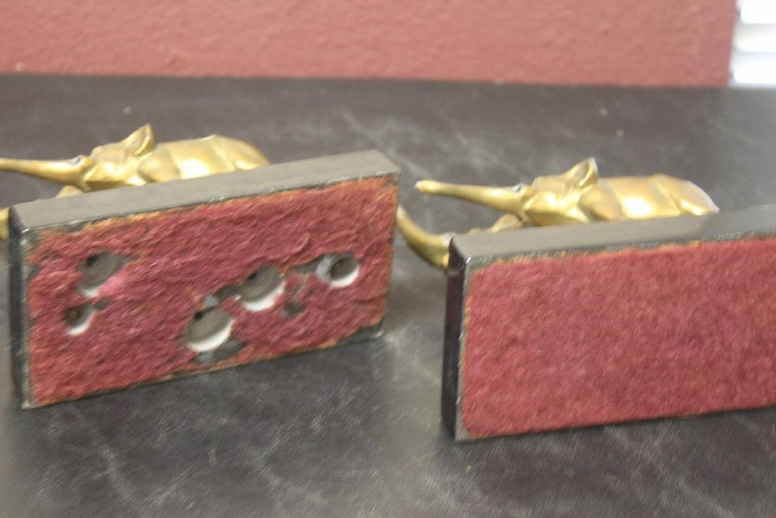 Set of Two Elephant Bookends - 6