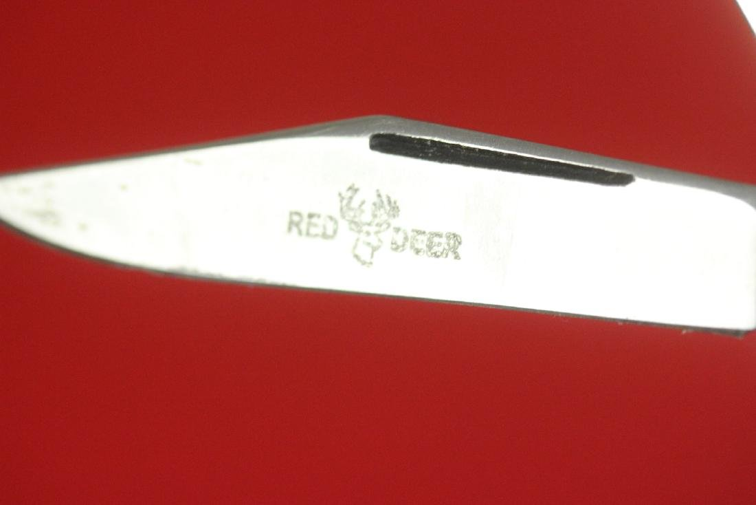 A Red Deer Burnt Bone Handle Knife - 4