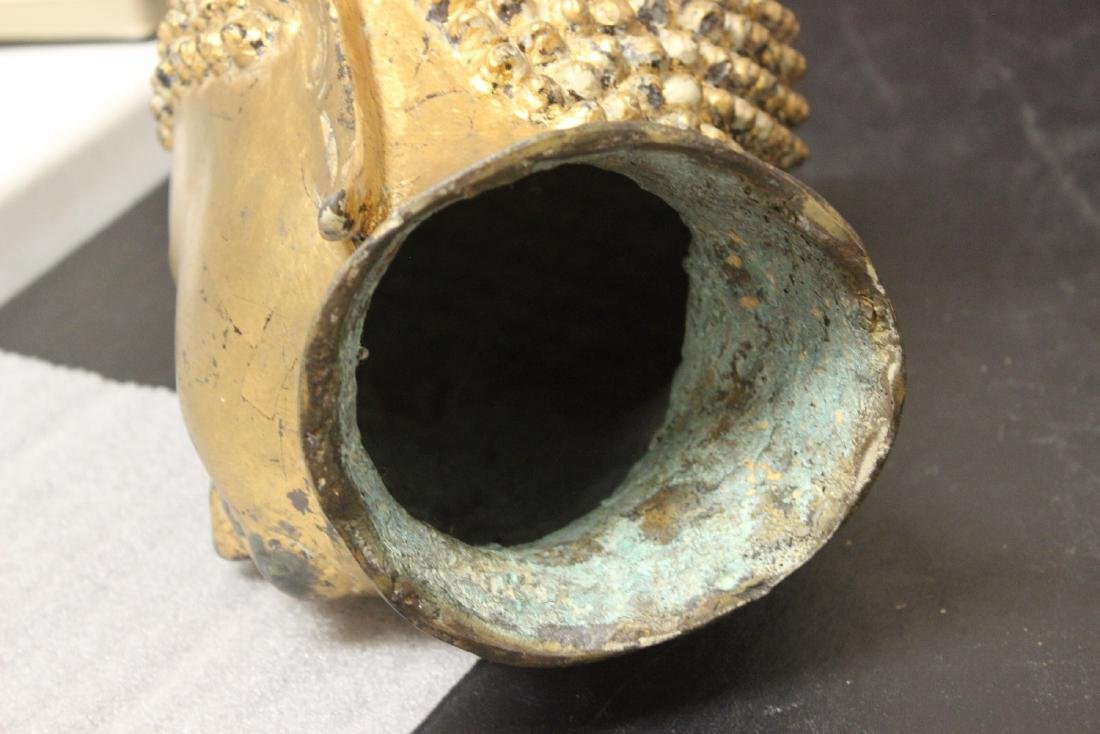 An Antique/Vintage Gold Buddha Head - 9