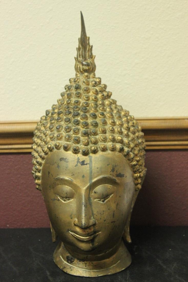 An Antique/Vintage Gold Buddha Head