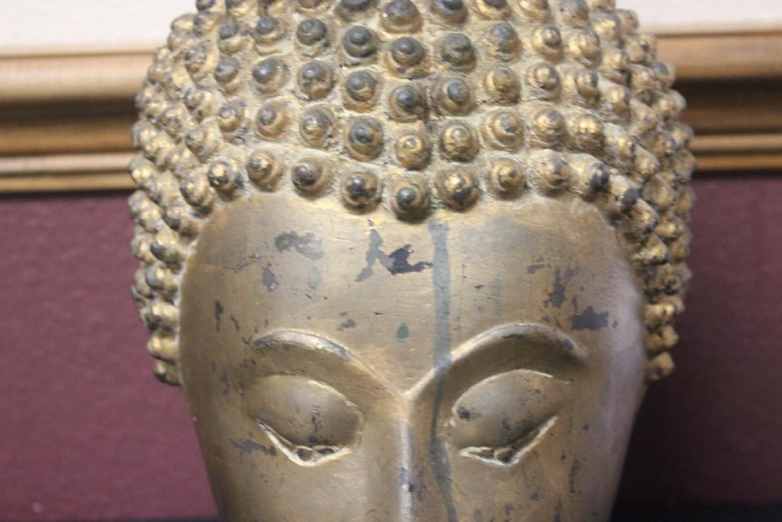 An Antique/Vintage Gold Buddha Head - 2