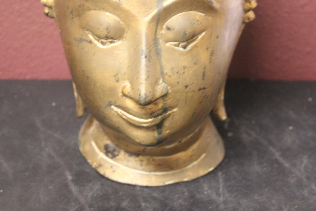 An Antique/Vintage Gold Buddha Head - 3