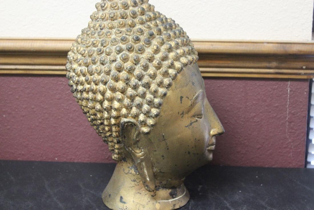 An Antique/Vintage Gold Buddha Head - 5