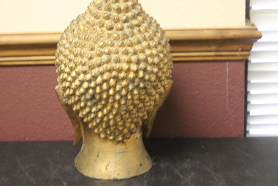 An Antique/Vintage Gold Buddha Head - 7