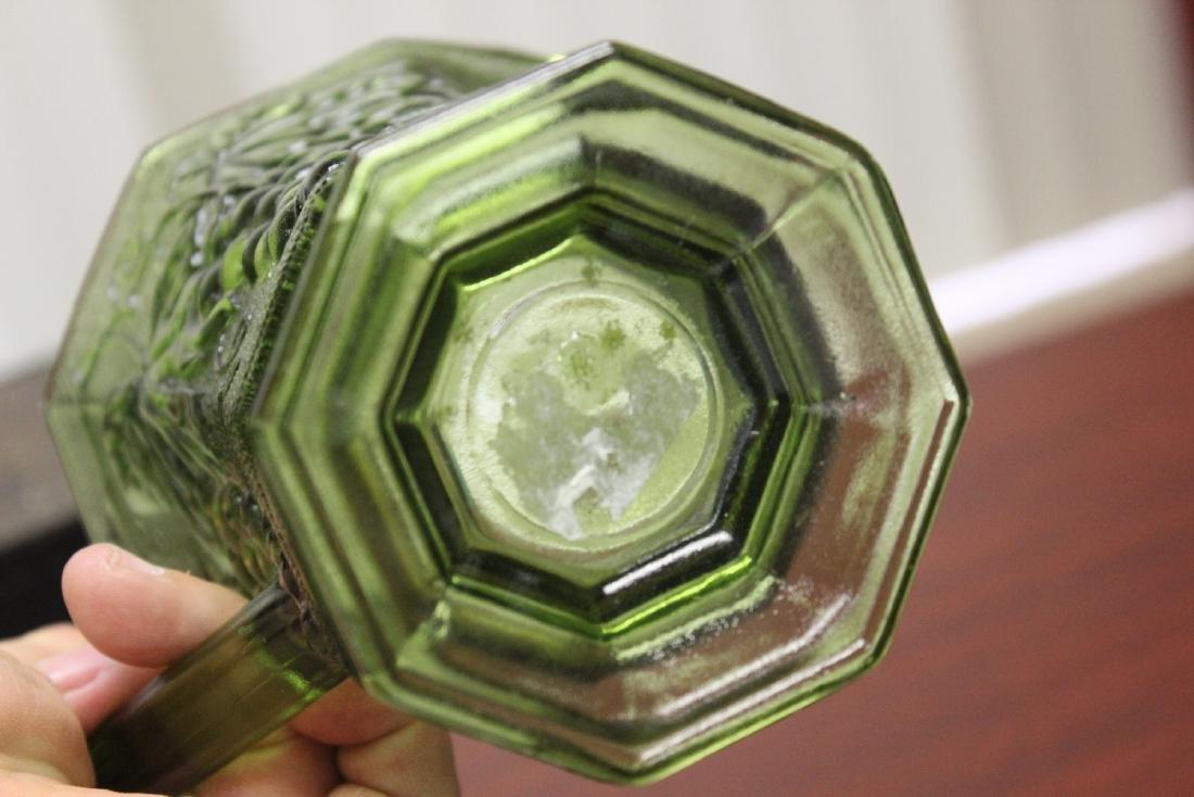 A Green Press Glass Pitcher - 2