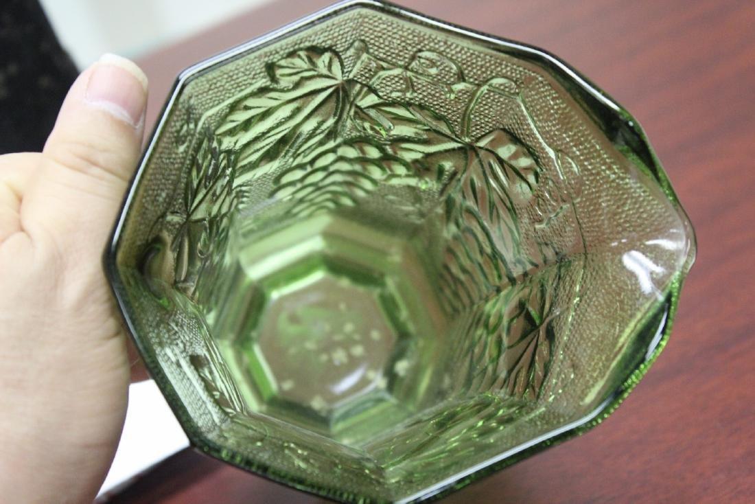 A Green Press Glass Pitcher - 4