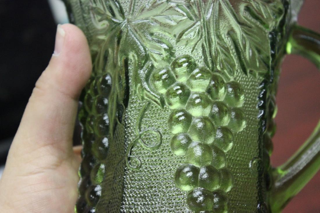 A Green Press Glass Pitcher - 6