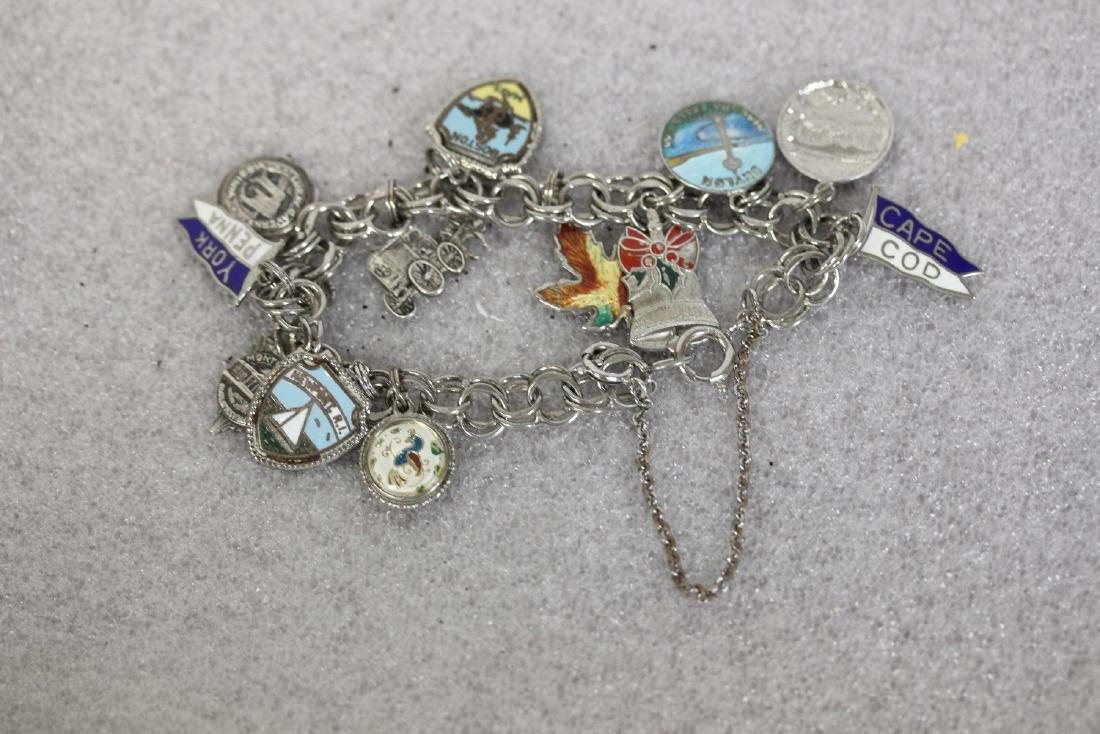 A Sterling Charm Bracelet