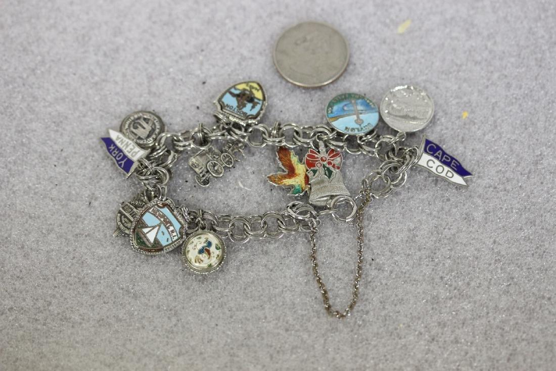 A Sterling Charm Bracelet - 2