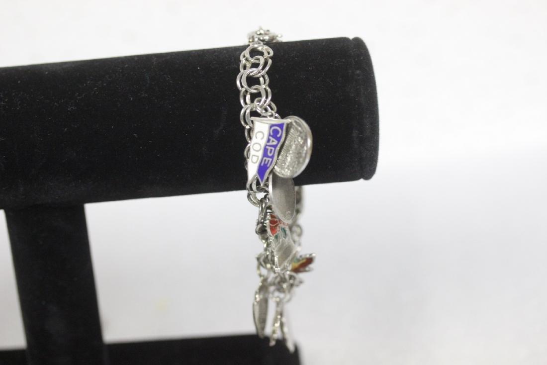 A Sterling Charm Bracelet - 4