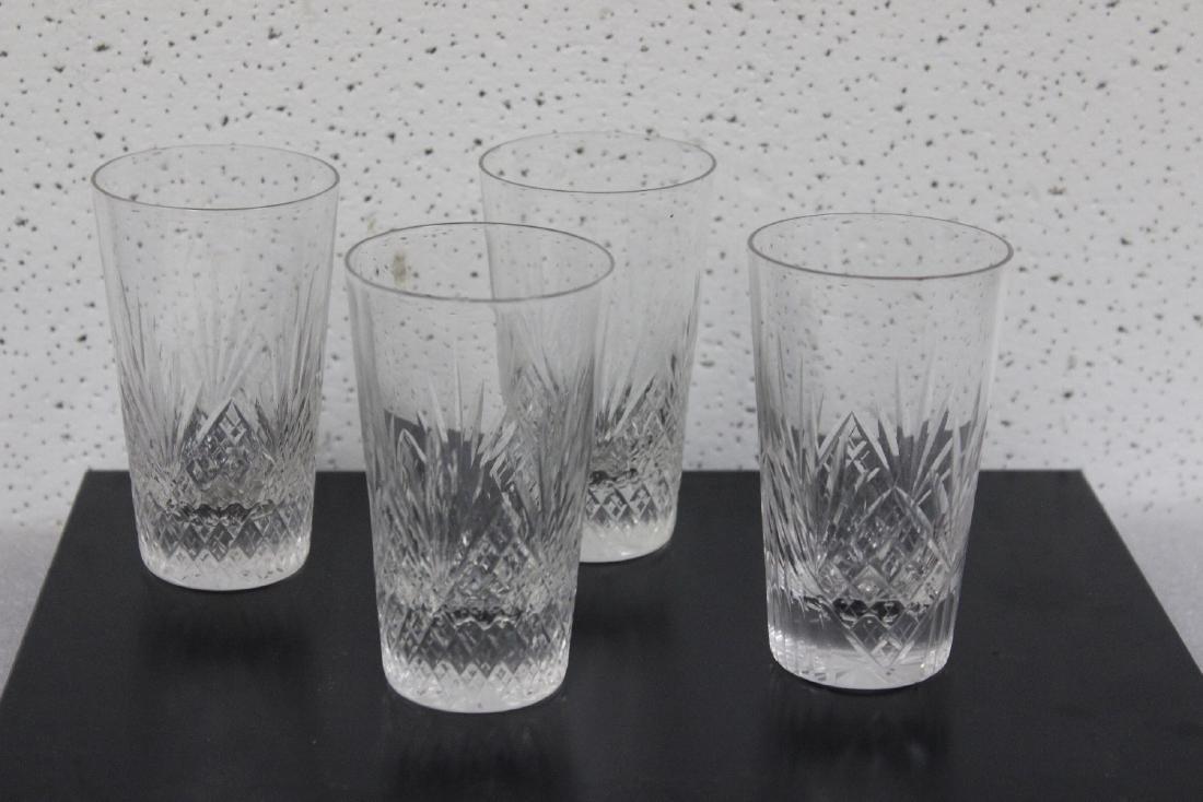 Set of 4 Cut Glass Water Tumblers