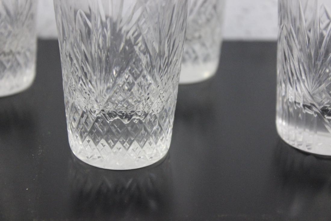 Set of 4 Cut Glass Water Tumblers - 2