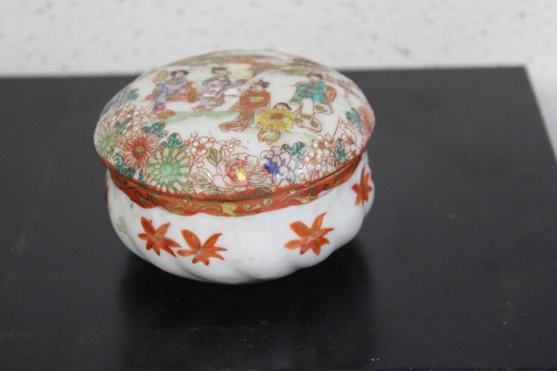A Japanese Kutani Trinket Box