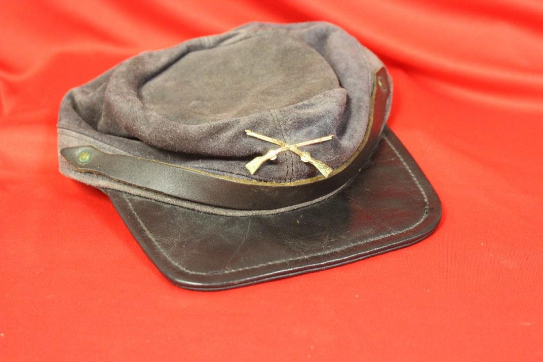 A Leather Confederate Style Hat