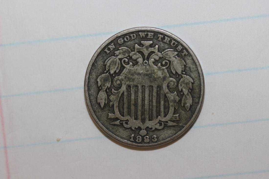 An 1883 Shield Nickel - 5