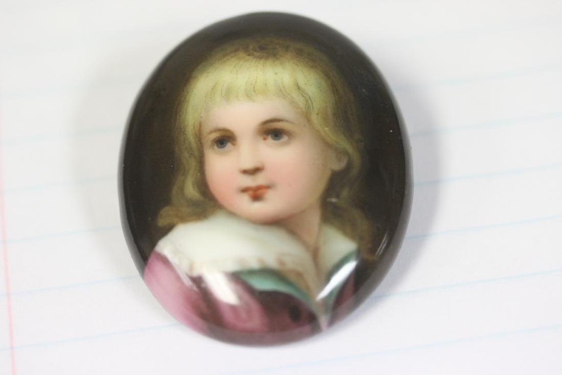 a Handpainted Porcelain Pin