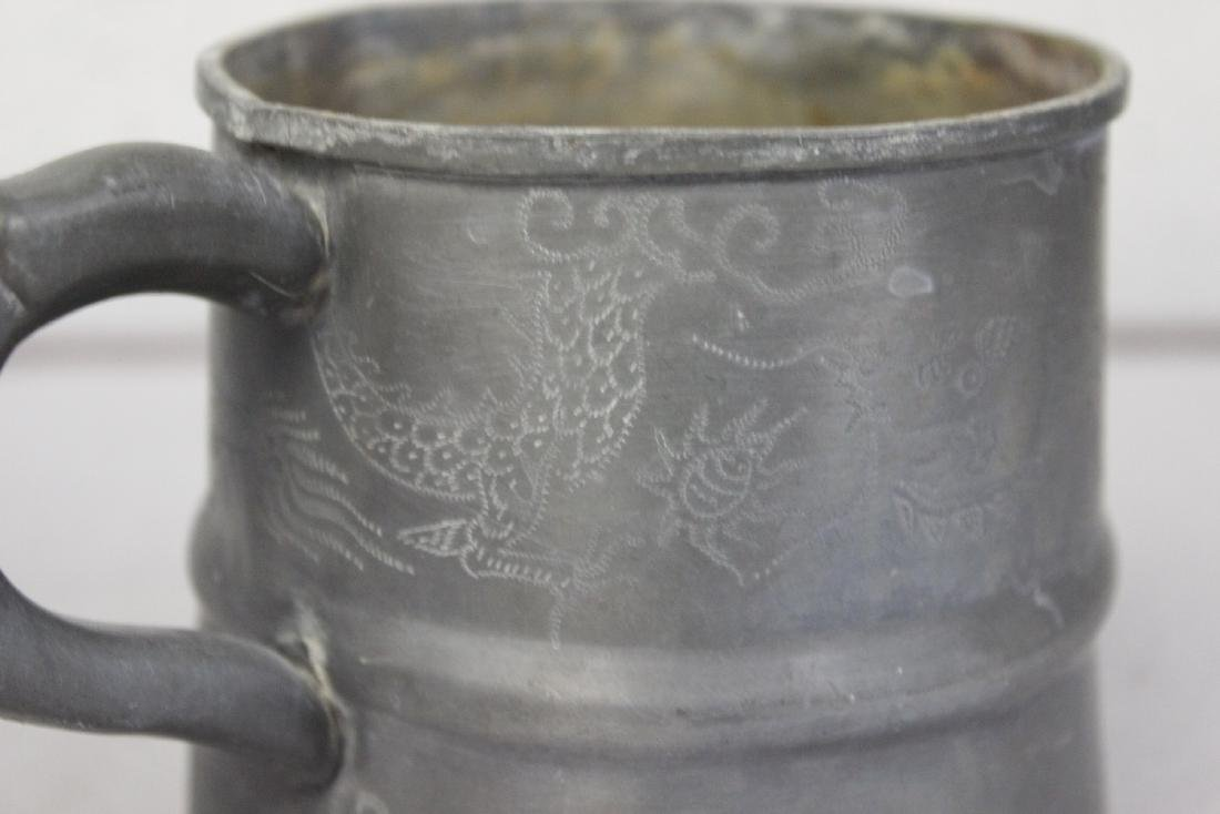 A Dragon Pewter Cup - 2