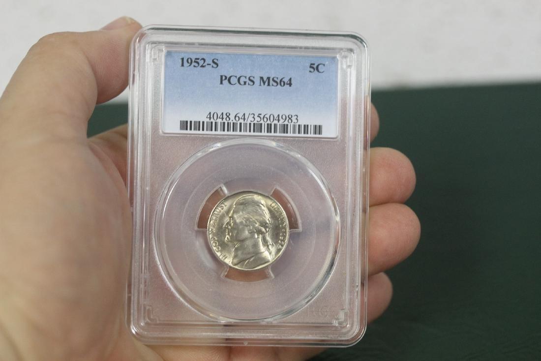A Graded 1952-S Jefferson Nickel