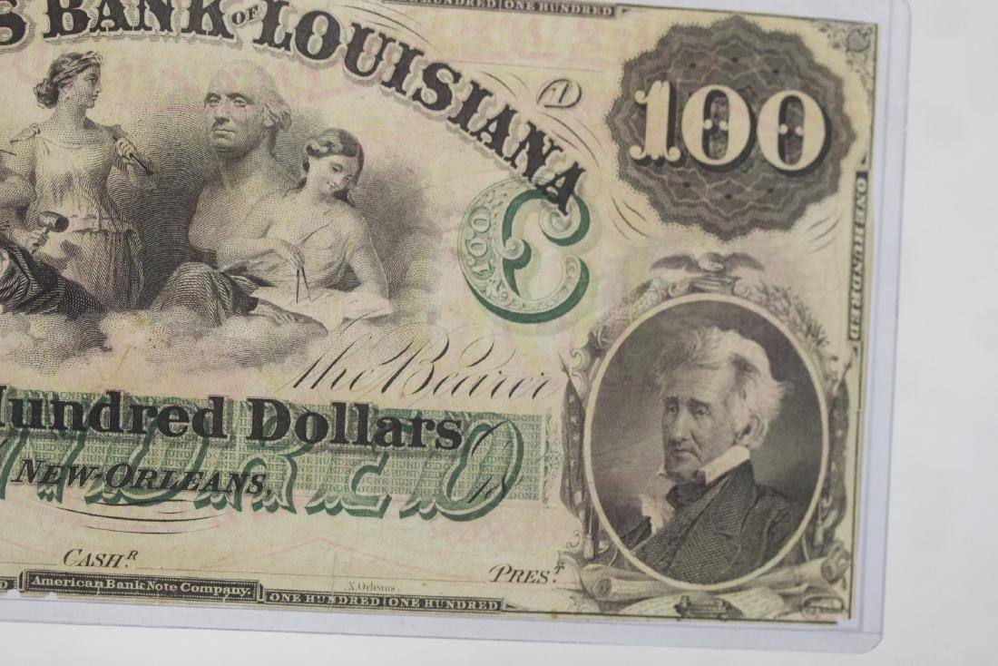 An 1857 $100 Citizen's Bank of Louisiana Note - 10