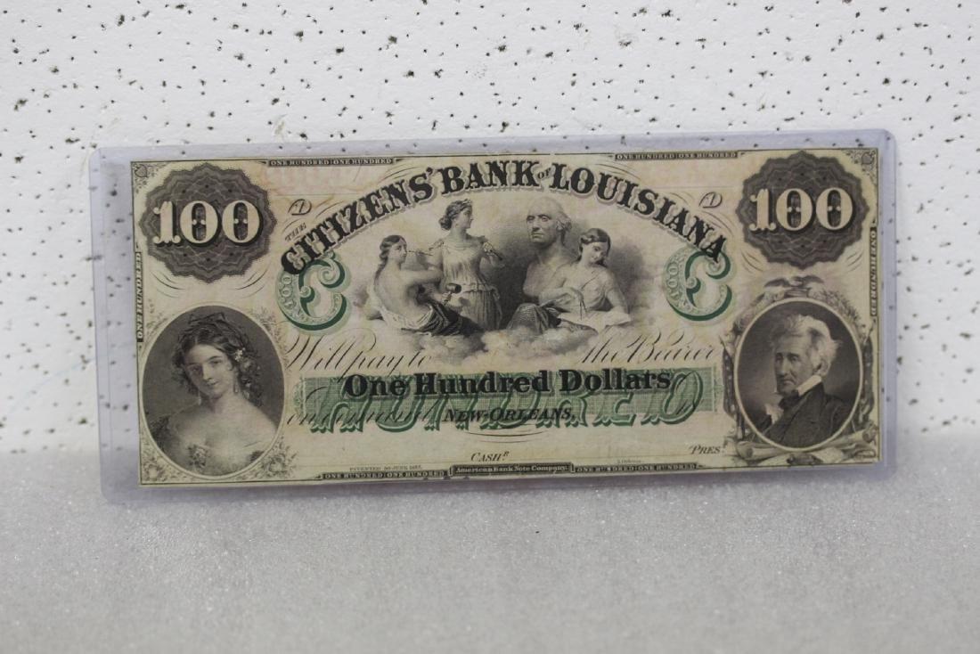 An 1857 $100 Citizen's Bank of Louisiana Note
