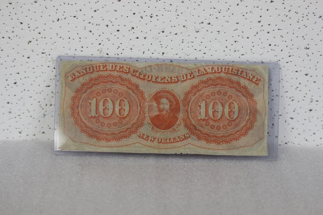 An 1857 $100 Citizen's Bank of Louisiana Note - 2