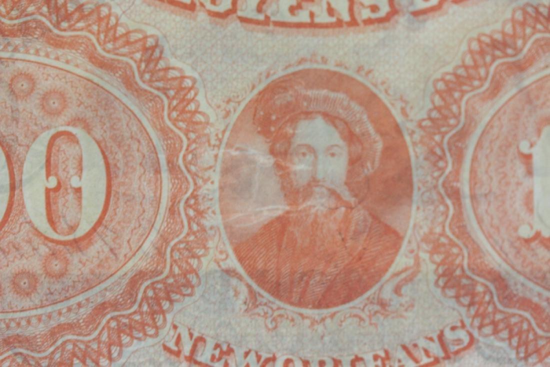 An 1857 $100 Citizen's Bank of Louisiana Note - 3