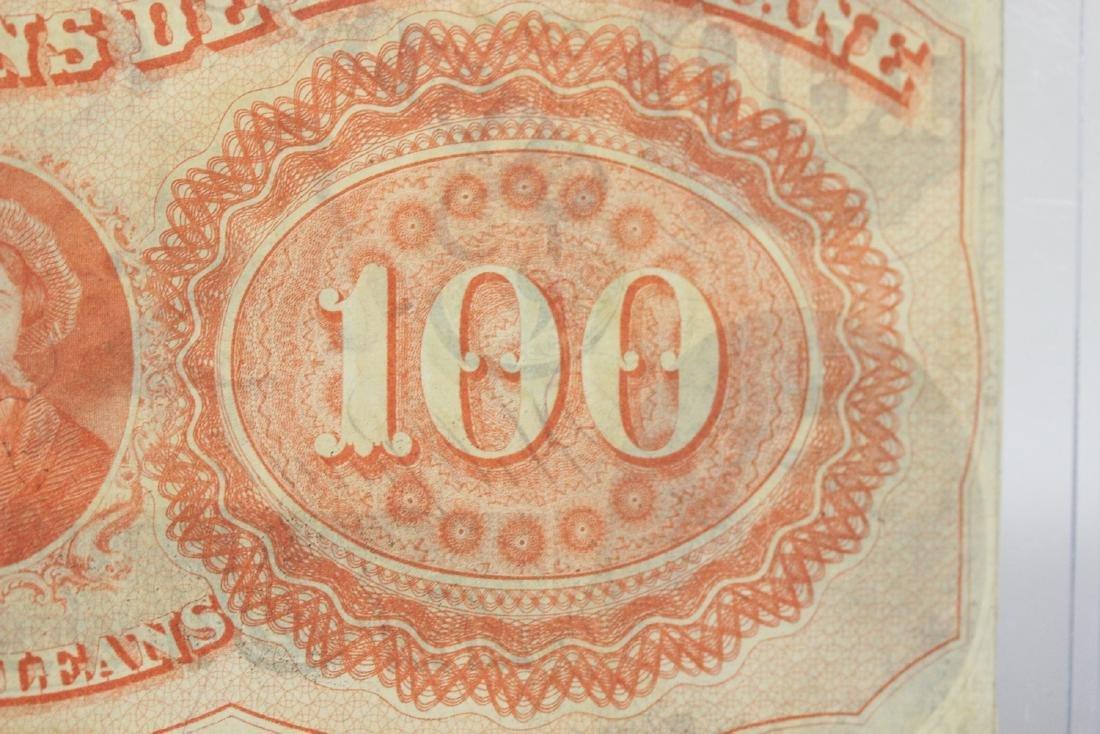 An 1857 $100 Citizen's Bank of Louisiana Note - 4