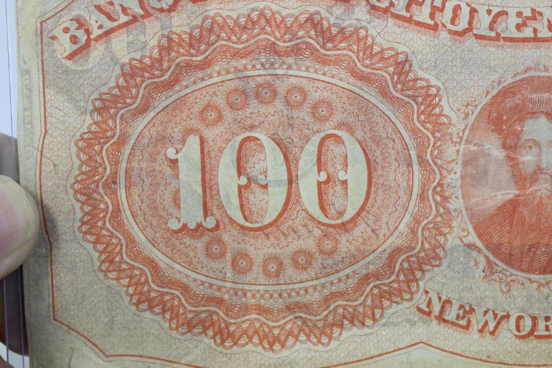 An 1857 $100 Citizen's Bank of Louisiana Note - 5